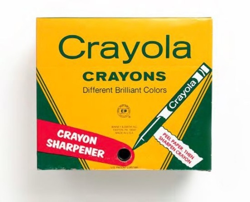 64 count crayons with sharpener