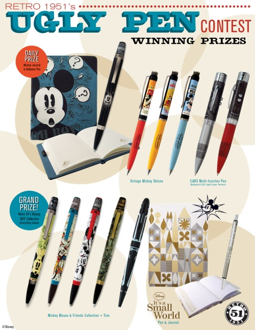 Retro 51 Ugly Pen Contest Prize Package for Disney's D23 Expo