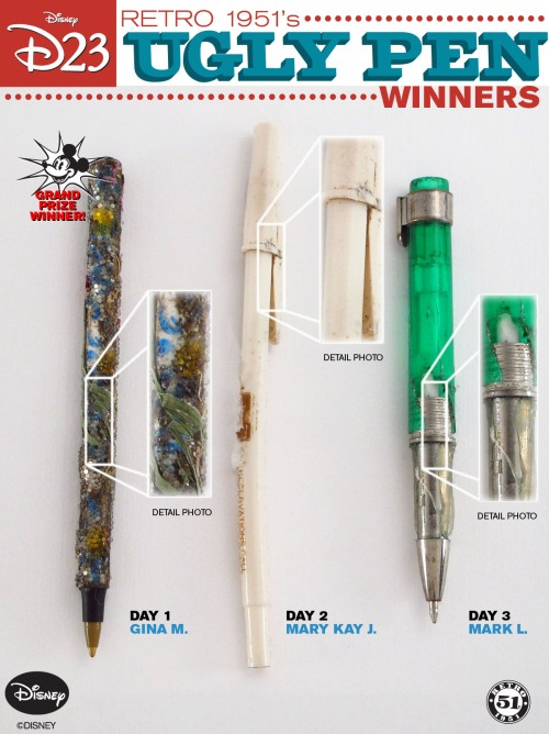 The Winners of our Ugly Pen Contest
