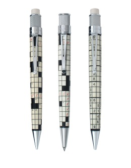 Retro 51 Crossword & Soduku Pen & Pencils